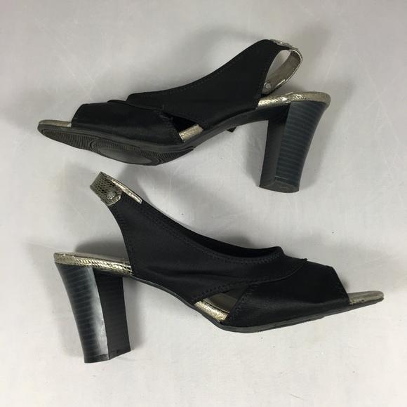 88fc1d7fea06dc Dana Buchman Shoes - Dana Buchman Cloth Heeled Sandals